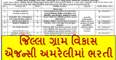 DRDA Amreli Recruitment 2021