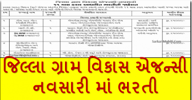 DRDA Navsari Recruitment 2021