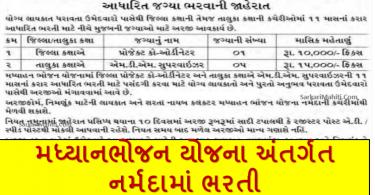 MDM Narmada Recruitment 2021