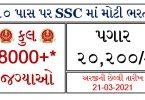 SSC Multi Tasking Staff Recruitment 2021