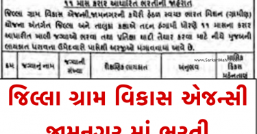 DRDA Jamnagar Recruitment 2021