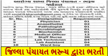 NHM Bharuch Recruitment 2021
