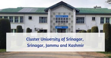 Cluster University Srinagar Admission 2021