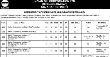 IOCL Gujarat Recruitment 2021